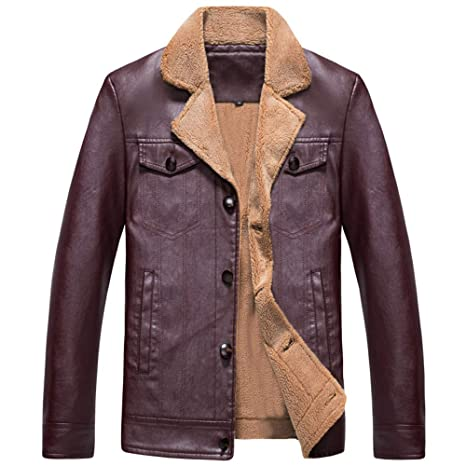 Clearance Sale for Men Coat.AIMTOPPY Fashion Mens Warm Jacket Long Sleeve Plus Velvet Leather