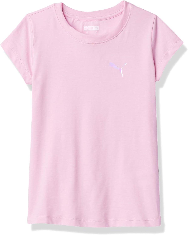 PUMA Girls' Core Logo T-Shirt: Clothing
