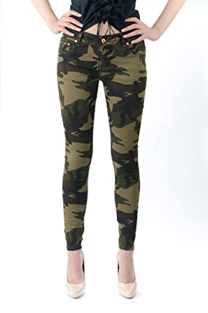 Exocet Plus Size Camouflage Jeans at Amazon Women's Clothing store: