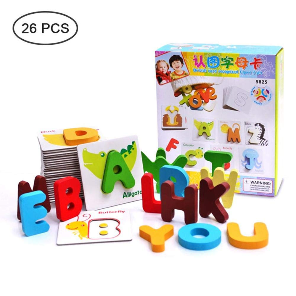 Alphabet letter A to Z playing cards learning education toy
