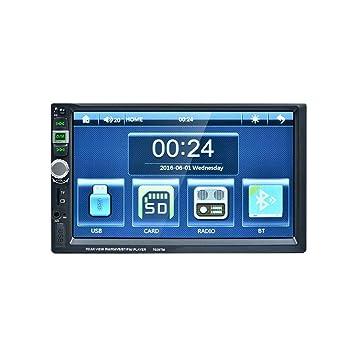 Topker 7 pulgadas de alta definición Doble Din pantalla táctil del coche del vehículo DVR MP5 Blluetooth navegación GPS con la cámara USB TF transmisor de ...