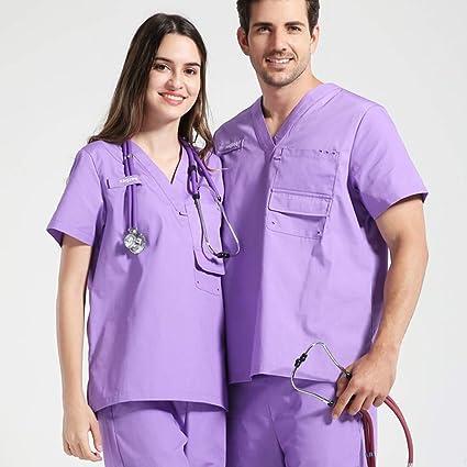 OPPP Ropa médica Trapos de enfermería de Talla Grande para Hombres y Mujeres. Uniformes de