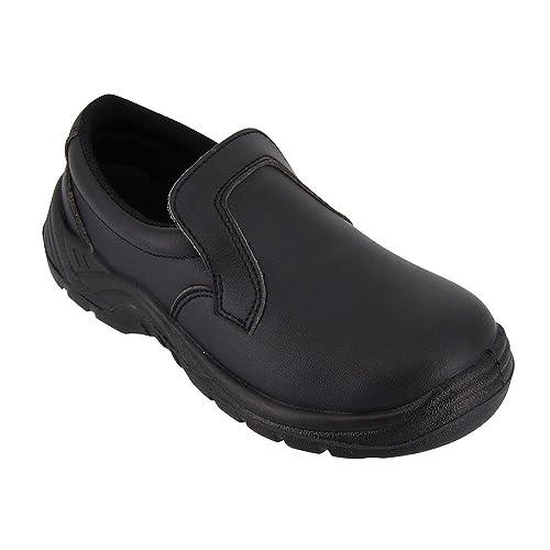 baskets pour pas cher 3ce76 7aa51 Label Blouse Chaussure de Cuisine Noire - Chaussure de Travail Agro  Alimentaire Noire avec Coque de Protection ISO20346 - Diposnible du 35 au 46