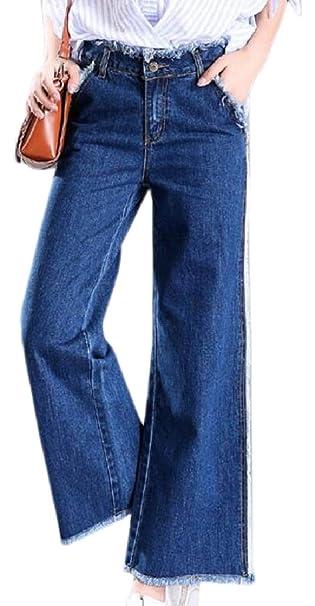 Amazon.com: FLCH+YIGE - Pantalones vaqueros clásicos para ...