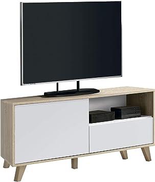 Hogar24-Mesa televisión, Mueble TV salón diseño Vintage, incorpora ...