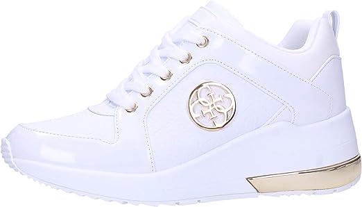 Guess Baskets Femme Blanc Fl6jryele12: : Chaussures