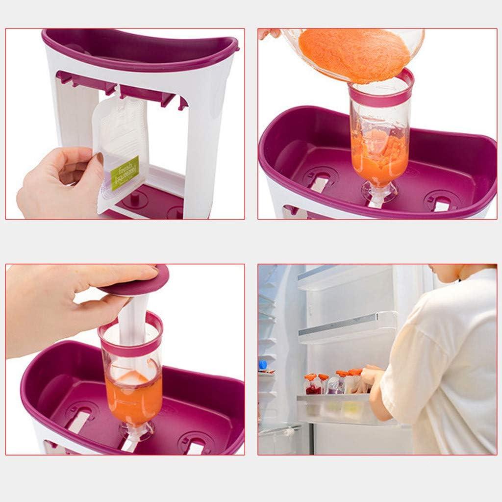 Babynahrungserg/änzungsmaschine Kinder Nahrungsmittelpresse-Spender Briskorry Squeeze Station Quetschie Zubereiter QuetschbeutelKinder-P/üree-Squeezer