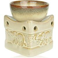 Quemador de aceite de cerámica con decoración