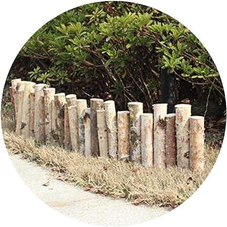 YYFANG Valla Madera Abedul Blanco Decorado Cerca Pequeña Línea Divisoria De Jardín Decoración De Jardinería Plantas De Protección Decoración De Borde De Cama De Flores: Amazon.es: Hogar