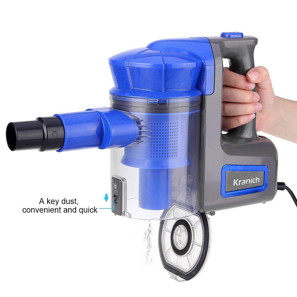 Kranich aspiradora ciclonico de Mano para hogar Aspirador Escoba sin Bolsa 2 en 1 Potente
