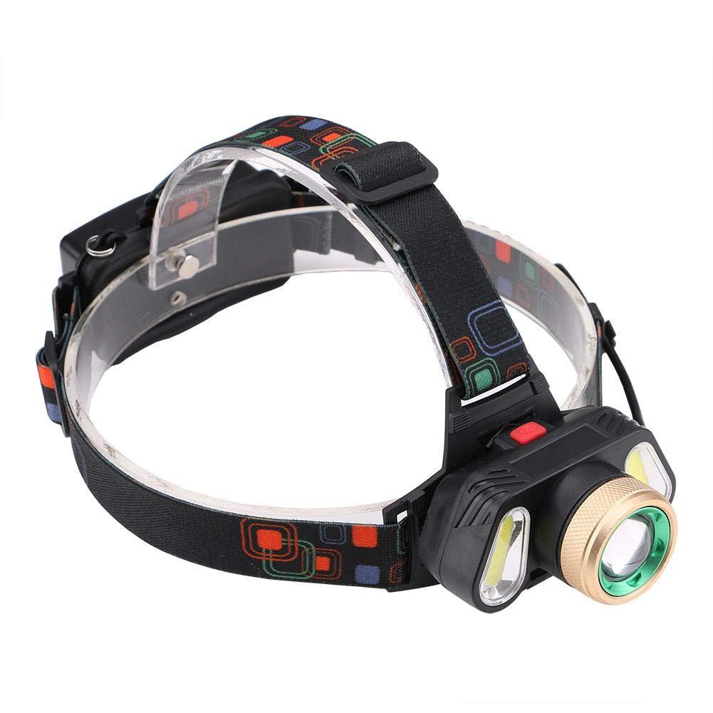 Linterna Frontal LED T6 3 LED COB 4 modos impermeable recargable al aire libre acampar luz faro - Matefielduk - - Amazon.com