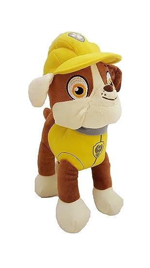 Patrulla canina (PAW PATROL) - Peluche personaje Rubble, bulldog Inglés especialista en construcción