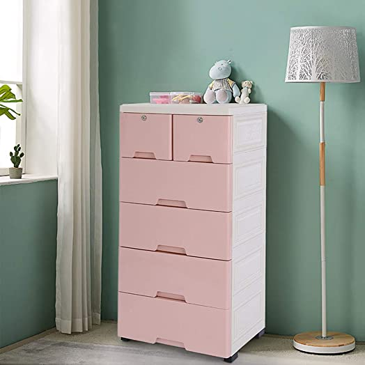 Sentmoon Plastic Drawers Dresser Storage Cabinet