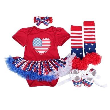 Baby USA Flag Leg Warmers