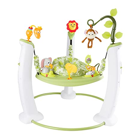 f2ad0b3221a EvenFlo Exersaucer Jump and Learn Stationary Jumper Safari Friends  (Multicolor)