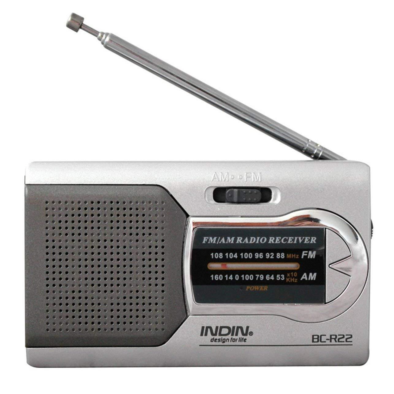 CY Universal Silver Slim AM/FM Mini Radio Esté reo Receptor de altavoces de mú sica (Color: color plateado) WOSOSYEYO