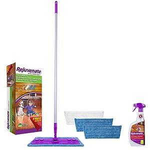 Rejuvenate Hardwood and Laminate Floor Cleaning Mop Kit, 5-Piece