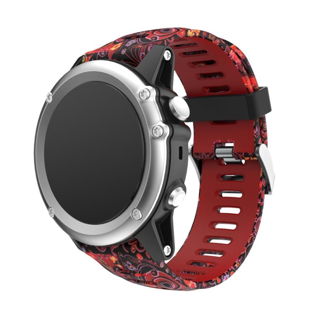 For Garmin Fenix 5 x GPS Watch Bands、スポーツWristbands交換用シリカゲルソフトバンドストラップFenix 5 x Watchアクセサリー B B B078WSDR5S