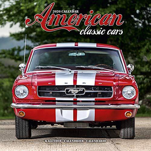 Classic Car Calendar - Muscle Car Calendar - American Muscle Cars Calendar - Calendars 2019 - 2020 Wall Calendars - Car Calendar - American Classic Cars 16 Month Wall Calendar by Avonside