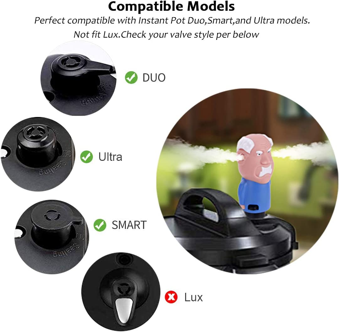 HUICOCY Steam Release Diverter for Instant Pot,Grandpa Instant Pot Diverter Fun Way to Redirect InstantaPot Steam Away from Cabinets,Compatible with Duo//Smart//Ultra Instant Pot,Not fit Lux