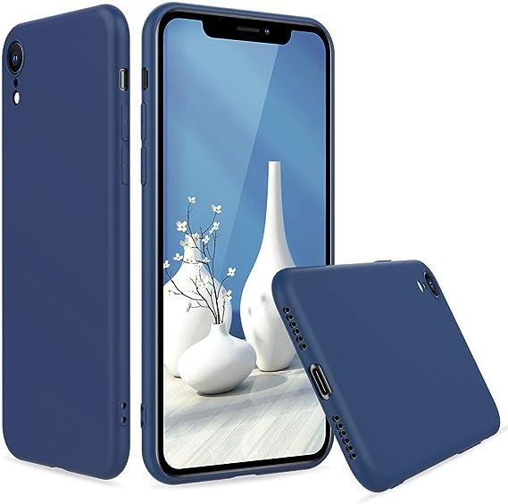 Peakally Funda iPhone XR, Carcasa TPU Suave Funda para iPhone XR Carcasa Flexible Ligero Fundas [Resistente a arañazos] [Ultrafina Delgado]-Azul: Amazon.es: Electrónica