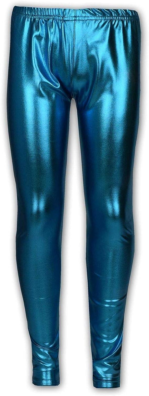 SigerDiva Kids Girls Leggings Metalic Shinny Disco Fashion Dance Leggings Age 4-13 Years