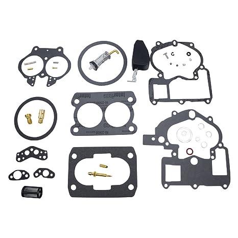 iFJF Carburetor Rebuild Kit for Mercury Marine 3 0L 4 3L 5 0L 5 7L Mercarb  2 BBL Carburetor 3302-804844002 1389-9562A1 1389-9563A1 1389-9564A1
