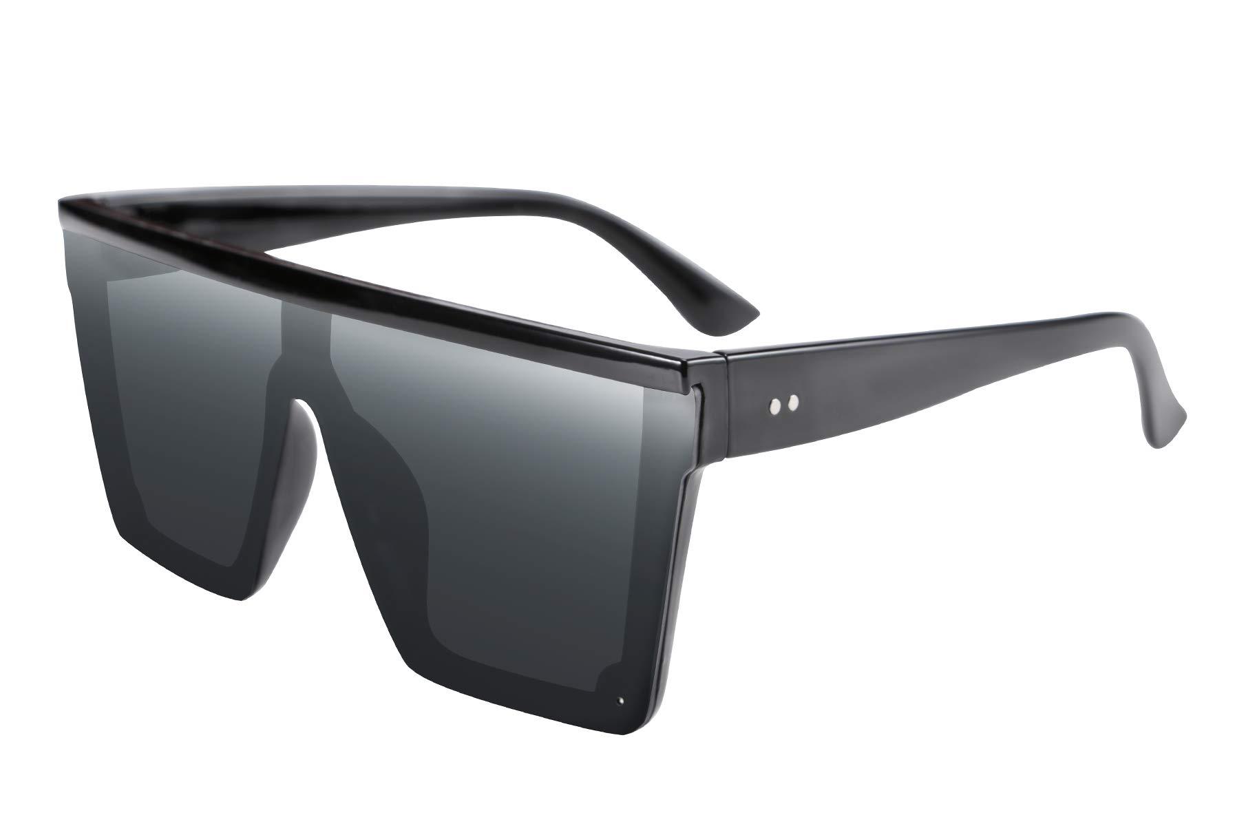 FEISEDY Fashion Oversize Siamese Lens Sunglasses Women Men Succinct Style UV400 B2470 by FEISEDY