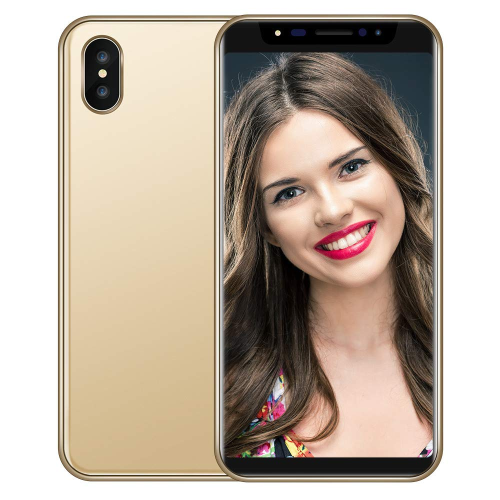 Maonet Fashion 5.8 inch Dual HDCamera Smartphone Android IPS Full Screen GSM/WCDMA 16GB Touch Screen WiFi Bluetooth GPS 3G Call Mobile Phone (Gold)