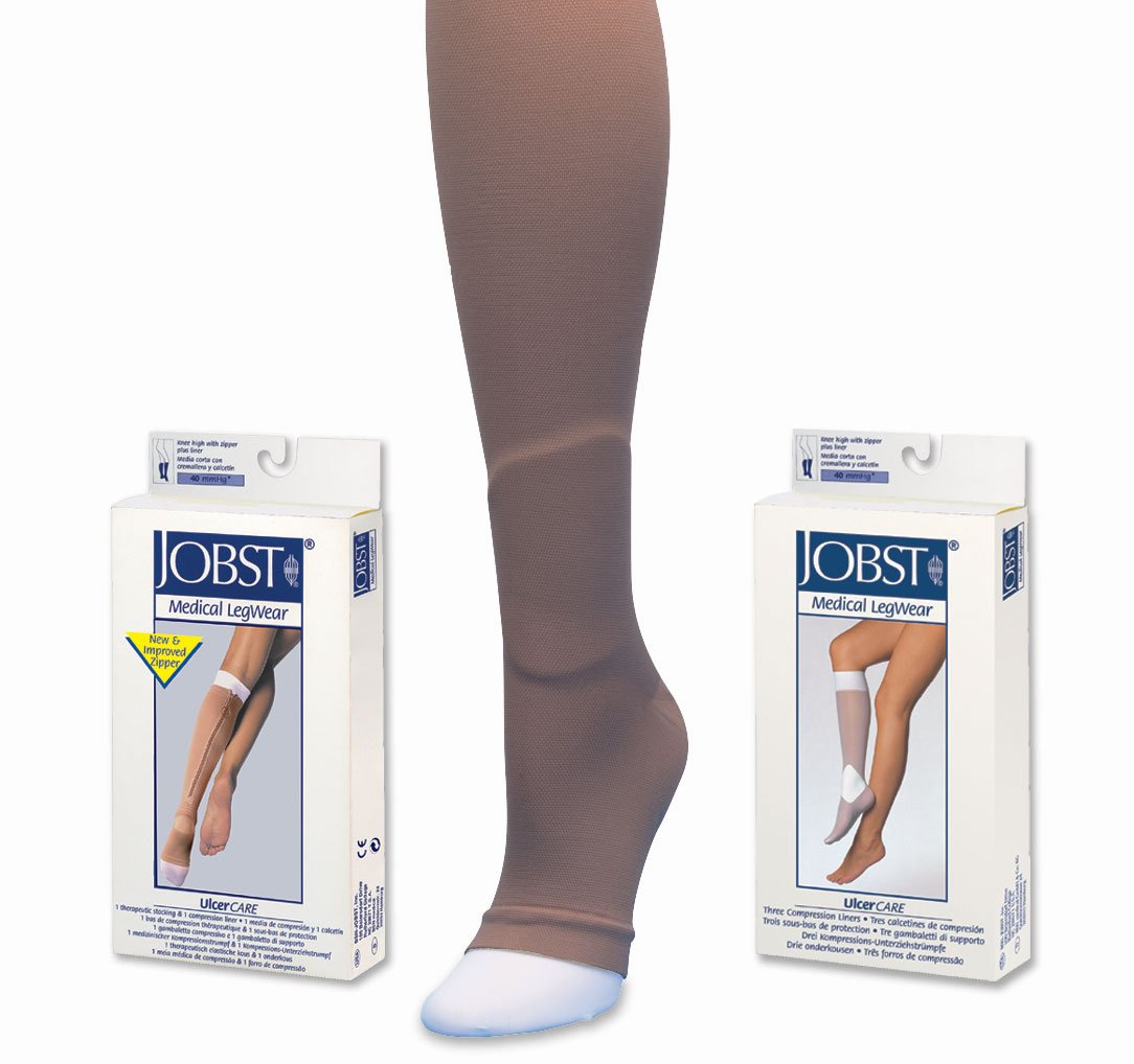 Amazon.com: Jobst UlcerCare Stocking with Liners 40mmHg, M, Beige: Health & Personal Care