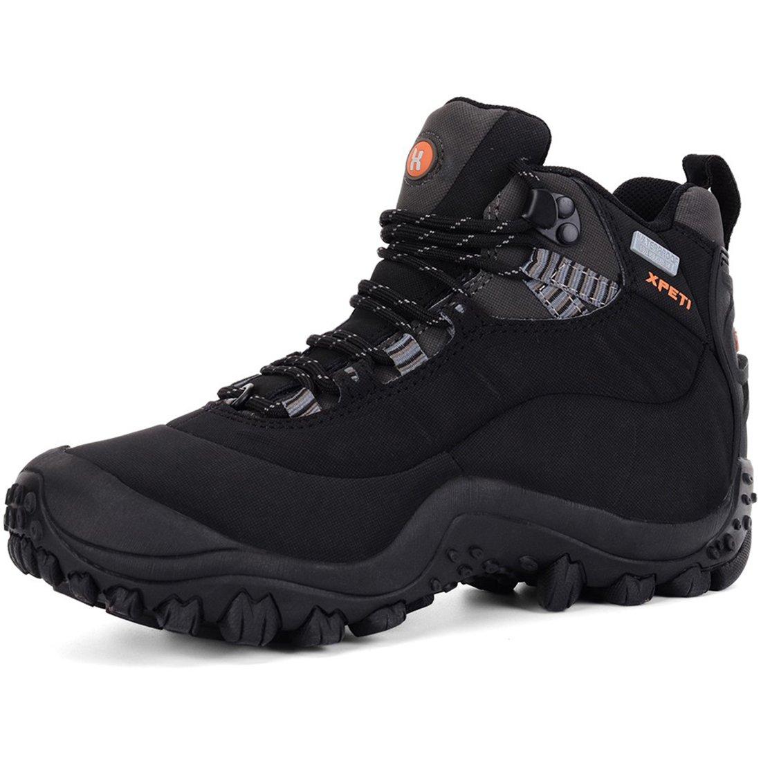 XPETI Women's Waterproof Hiking Outdoor Boot Black 9 B(M) US B079DL8Y44 Parent