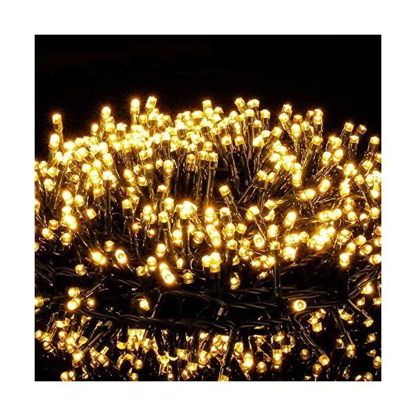 Avoalre Catena Luminosa 2000 LEDs 50M Stringa Luci Natale 8 Modalità Interno/Esterno Impermeabile LED Luci Decorative per Atmosfera Romantica Camera Festa Nozze Compleanno Natale Bianco Caldo 1 spesavip