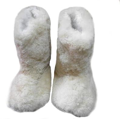 Alpacaandmore Braun/Weiße Unisex Hausschuhe Pantoffeln Surialpaka Fell (40) Hn9vzY
