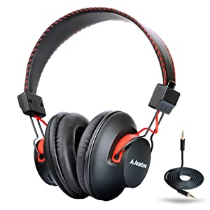Avantree Super Comfortable Bluetooth Over Ear Headphones with Mic, Wireless and Wired Dual Mode, aptX Hi-fi Sound, 40h Music Time Lightweight