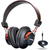[2 Years Warranty] Avantree Super Comfortable Bluetooth Over Ear Headphones with Mic, Wireless and Wired Dual Mode, aptX Hi-fi Sound, 40h Music Time Lightweight - Audition