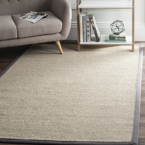 Safavieh Natural Fiber Collection NF143D Marble and Dark Grey Sisal Area Rug (5