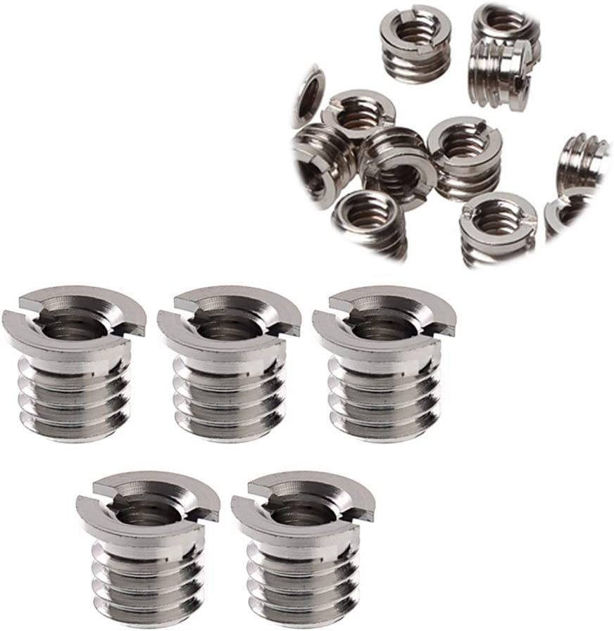 Uonlytech 20pcs 1//4 Inch to 3//8 Inch Converter Screw Famale Screw Adapter Reducer for Camcorder Tripod Monopod Decor