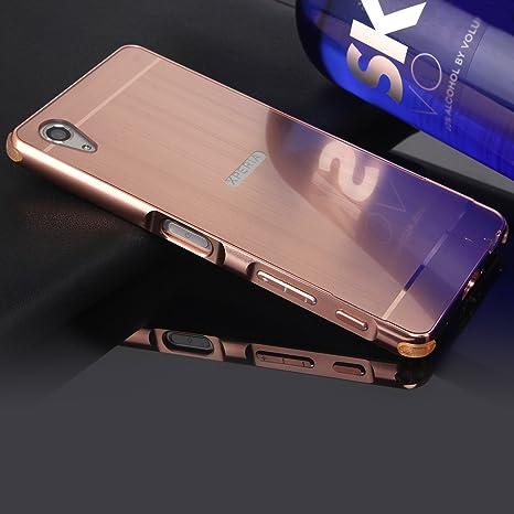 SpieHülle für Sony Xperia XA Matt,BtDuck Silikon Metal Mirror Schutzhülle Handyhülle Mirror Protective Case Cover Glitzer Tas