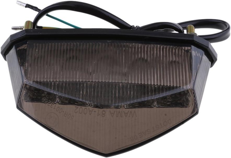 Motorcycle 10 LEDs Tail Light with Brake Stop Turn Signal Function Universal for Dirt Bike Buggy Chooper Cruiser ATV Smoke