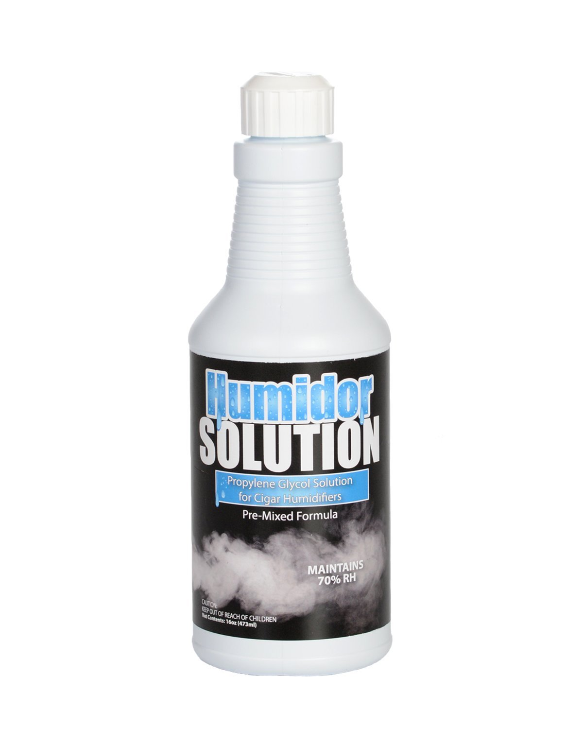 Cigar Humidor Solution - Pre-Mixed 50/50 Propylene Glycol for Humidifiers - 16oz Pint with Easy Pour Spout by Bluewater Chemgroup