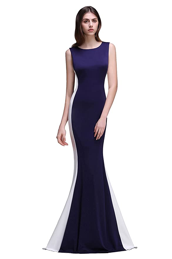 Amazon.com: Babyonline Women Mermaid Evening Gown Long Satin Zipper Formal Prom Dress: Clothing