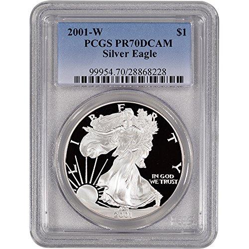 2001 W American Silver Eagle Proof $1 PR70 DCAM PCGS