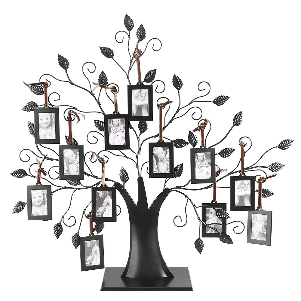 Caredy Photos Display Tree, Fashionable Hanging Photos Display Tree Family Tree Photo Frame with Hanging Tree Design Decorative (M)
