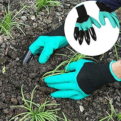 2 pares – Guantes de jardín Plantas Herramientas Jardín Guantes de trabajo con garra para el hogar y jardín Herramienta: Amazon.es: Bricolaje y herramientas