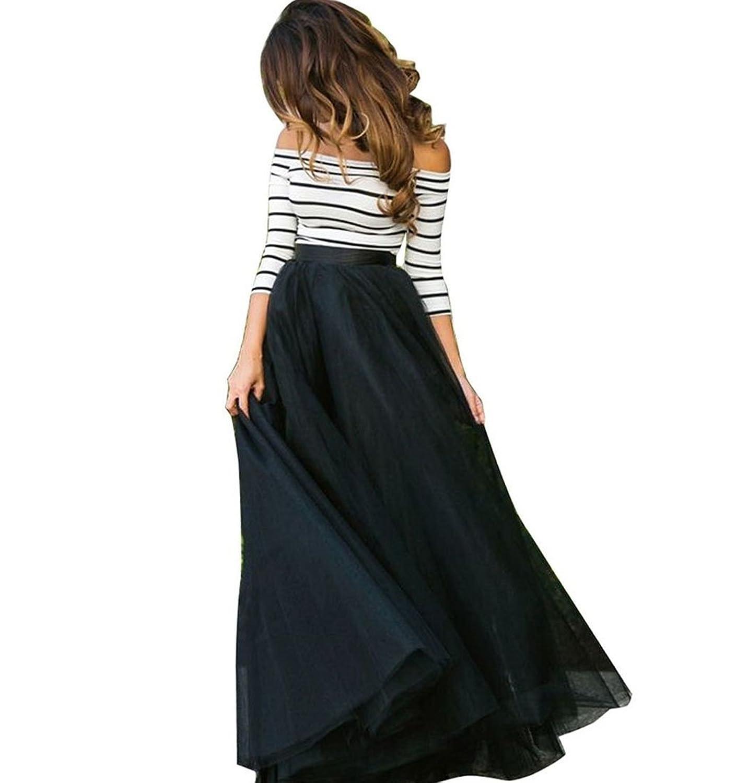 CRAVOG Damen Gestreift Schulterfrei lange Kleid Sets Partykleid Ballkleid Sommerkleid Strandkleid Cocktailkleid