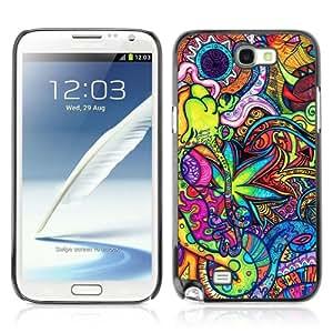 Designer Depo Hard Protection Case for Samsung Galaxy Note 2 N7100 / Cool Ganja Marijuana Pattern 420