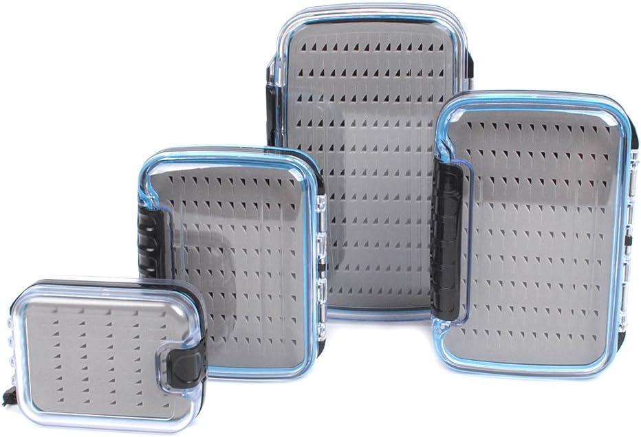 waterproof fishing tackle box double side foam fly fishing lure bait hook cas XS