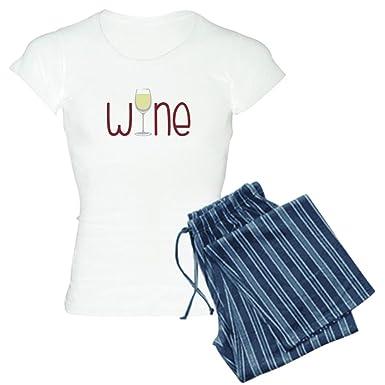 f65ad359f2c6 Amazon.com  CafePress - Wine Pajamas - Womens Novelty Cotton Pajama ...