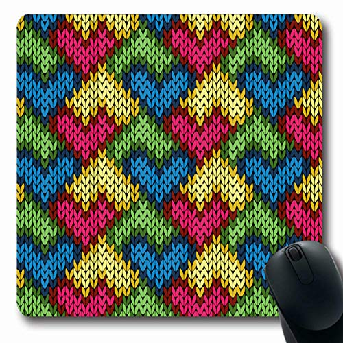 Ahawoso Mousepads Variegated Blue Patchwork Pattern Abstract