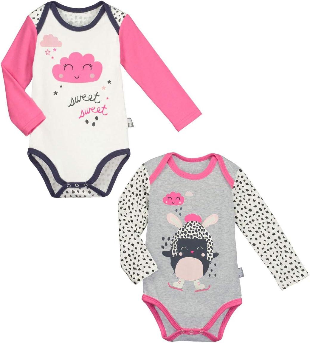 Lot de 2 bodies de manga larga bebé niña burbuja de algodón – talla – 6 meses (68 cm): Amazon.es: Bebé